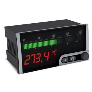 Bargraphe horizontal 4-20mA 010V PT100 Thermocouple Température - OMB452UNI - ADEL Instrumentation