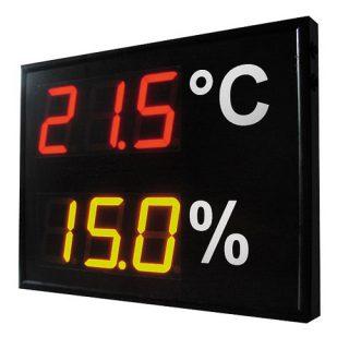 Grand afficheur de Température Humidité DGA23RG - P18 - ADEL Instrumentation