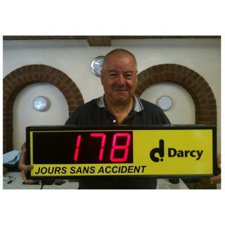 Affichage Nombre de Jours Sans Accident - ADEL Instrumentation