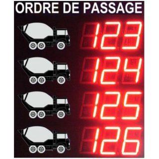 Afficheur de Gestion de File d'Attente Camions – Adel Instrumentation