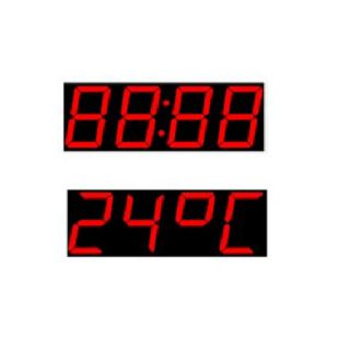Grand Afficheur Température Horloge - LD-FX-XC-TT - ADEL Instrumentation