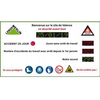 Affichage Jours Sans Accident Annuel - ADEL Instrumentation