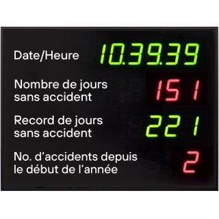 Affichage Jours Sans Accident Exterieur - ADEL Instrumentation