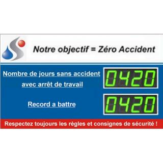Afficheur Jours Sans Accident Et Record à Battre - ADEL Instrumentation