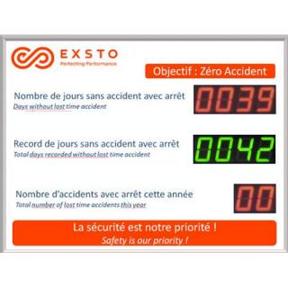 Jours Sans Accident Avec ou Sans Arret - ADEL Instrumentation