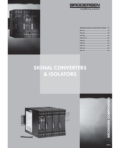 Catalogue Convertisseur Isolateur de Signal - Brodersen - ADEL Instrumentation