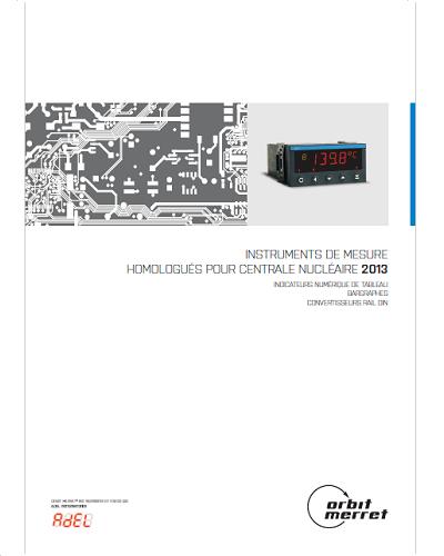 Catalogue Instrumentation Agréé pour Centrale Nucléaire – ADEL-Instrumentation