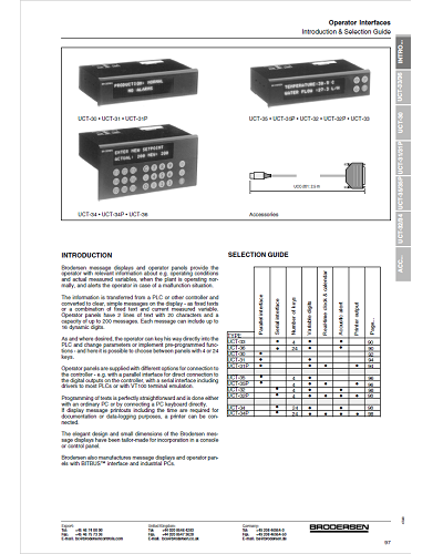 Guide de Sélection Interface Opérateur – Brodersen - ADEL Instrumentation