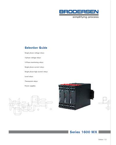 Guide de Sélection Relais de Surveillance et de Contrôle – Brodersen - ADEL Instrumentation